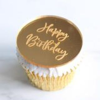 Sweet Stamp Luxury Cake Mirror Tags GOLD Pack of 6