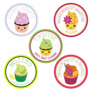*New 2021 Summer Flavours Bundle* Sugar and Crumbs Icing Sugar 5 Flavours.f