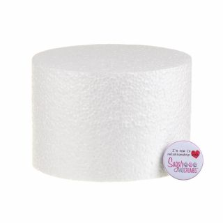 06x04 Inch ROUND Straight Edged Cake Dummy