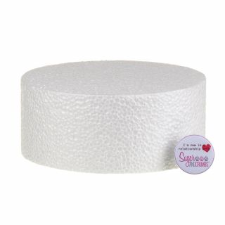 07x03 Inch ROUND Straight Edged Cake Dummy