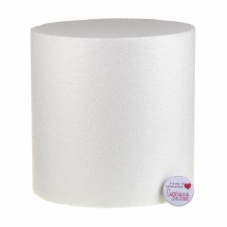 08x08 Inch ROUND Straight Edged Cake Dummy