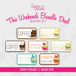 *New 2021 Weekend Special Bundle* Sugar and Crumbs Icing Sugar 7 Flavours