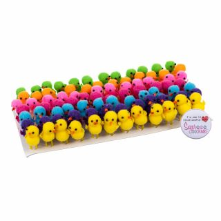 Assorted Small Plastic Chicks Pack of 84