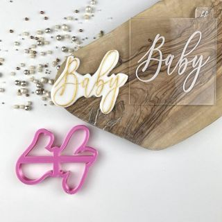 Baby Shower Cookie Cutter and Embosser Set