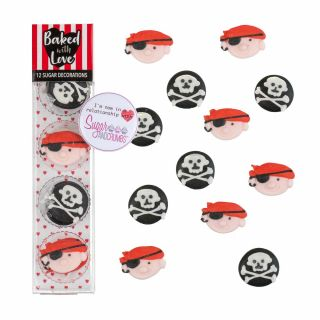 Baked with Love Sugar Pipings PIRATE Pack of 12