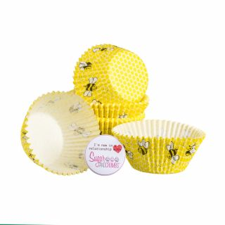 Baked with Love Baking Cases Honeycomb Pack of 50