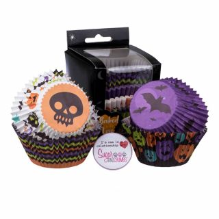Baked with Love Baking Cases Trick or Treat Pack of 100.abcd