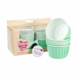 Baked with Love Baking Cups AQUA Pack of 24
