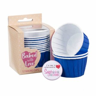 Baked with Love Baking Cups Blue Pack of 12