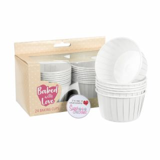 Baked with Love Baking Cups Ivory Pack of 24