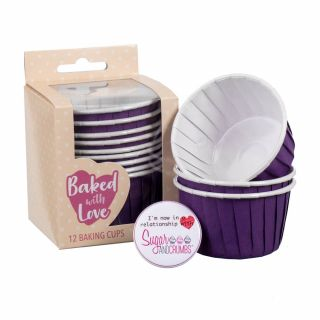 Baked with Love Baking Cups Ivory Pack of 12