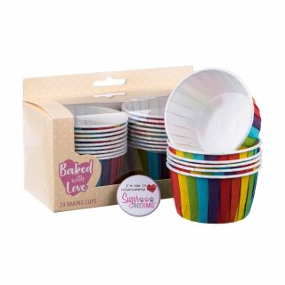 Baked with Love Baking Cups Rainbow Pack of 24