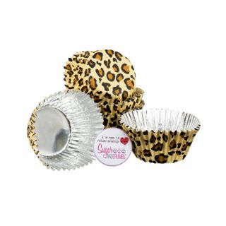Baked with Love Cupcake Foil Cases Leopard