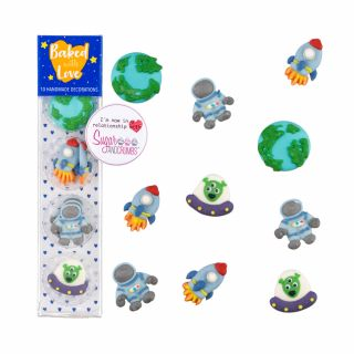 Baked with Love Sugar Pipings Spaceman Pack of 10