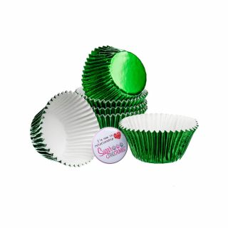 CULPITT Baking Cases Foil GREEN Pack of 45