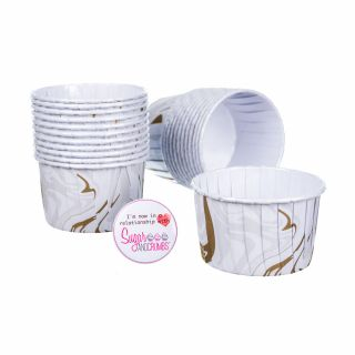 Culpitt Baking Cups SILVER AND GOLD MARBLE Pack of 24