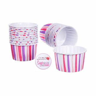 CULPITT Baking Cups PINK STRIPED Pack of 24