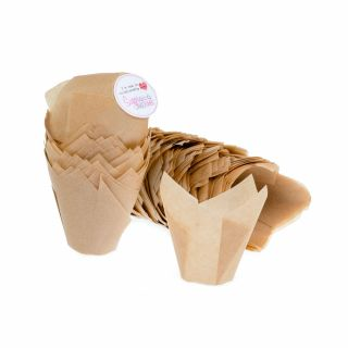 MINI Tulip Muffin Wraps CARAMEL Pack of 200