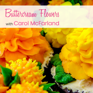 Carol's Buttercream Flowers Class Online Every week for 1 Fee