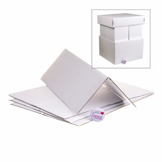 Extra Strong Corrugated Cake Box Corner Extensions 12inch - Set of 4