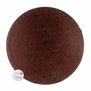 Cake Drum ROUND Brown 10 Inch