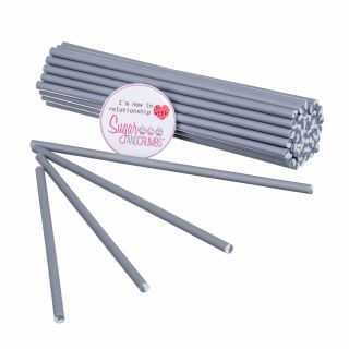 Cake Pop Lollipop Sticks 15cm SILVER Pack of 50
