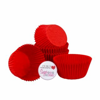 Cake Star Baking Cases Red Pack of 50