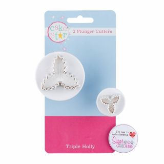 PME Cutters Veined Holly Leaf Set of 3.a