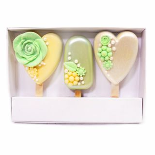Cakesicles Presentation Box with Lid - New Deeper Fits 3 Cakesicles - Set of 1