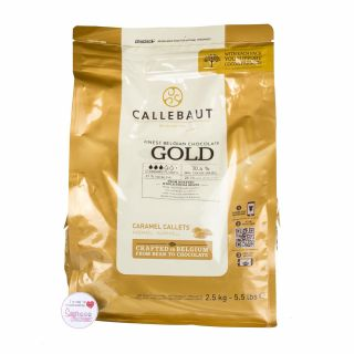 Callebaut Finest Belgium Chocolate Gold Large Bag 2.5 Kilos