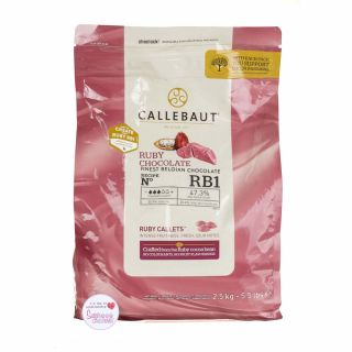 Callebaut Finest Belgium Chocolate Ruby Bag 1 Kg - Please read product info