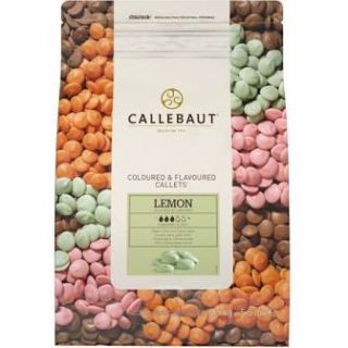 Callebaut Coloured and Flavoured Callets LEMON 500