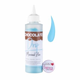 Chocolate Drip MERMAID BLUE Chocolate Icing 250g