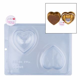 Chocolate Mould BWB 3 Part Heart Trinket Box