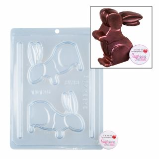 Chocolate Mould BWB 3 Part Jumping Rabbit.a