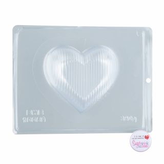 Chocolate Mould BWB 3 Part Medium Striped Heart 350g