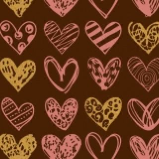 Chocolate Transfer Sheet Painted Hearts