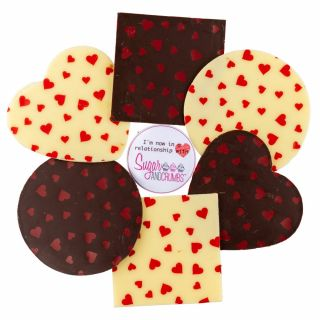 Chocolate Transfer Sheet Valentine Hearts