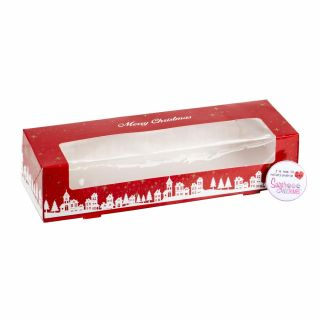 Christmas Mince Pie Box 9.25 x 3.25 x 2 inches with insert