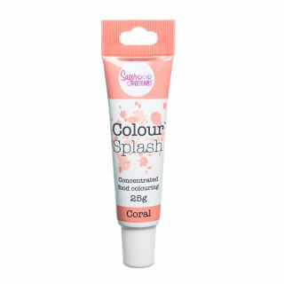 Colour Splash Food Colouring Gel CORAL 25g