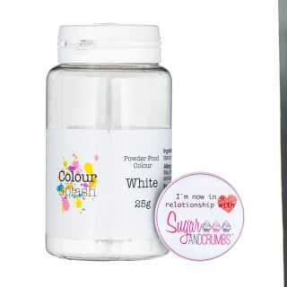 Colour Splash Dust MATT WHITE 5g