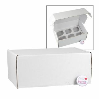 Corrugated Cupcake Box Holds 6 Pack of 5