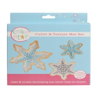 Cake Star Texture Mat and Cutter Set SNOWFLAKES