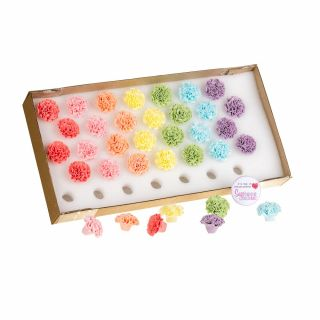 Culpitt Assorted Edible Sugar Decorations POM POM 30mm Pack of 35