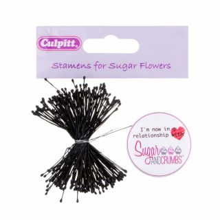 Culpitt Small Dull Black Stamens Bunch of 72