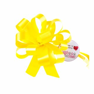 Cupcake Bouquet Ribbon Pull Bow YELLOW