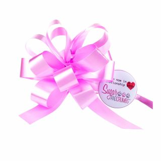 Cupcake Bouquet Ribbon Pull Bow PINK