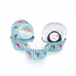 CULPITT Cupcake Cases Foil UNICORN Pack of 24