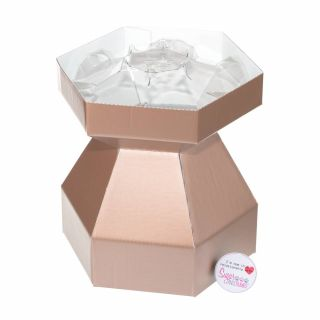 Cupcake Bouquet Box ROSE GOLD with Invisi Tray