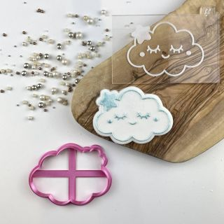 Cute Cloud Cookie Cutter and Embosser Set